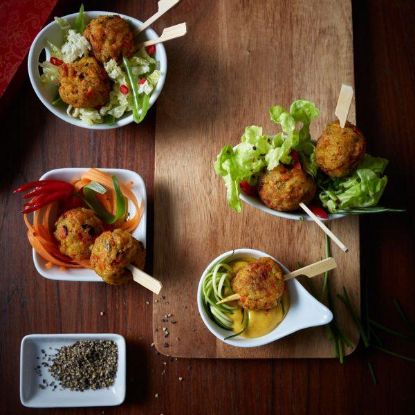 Gemüse Reis Bällchen